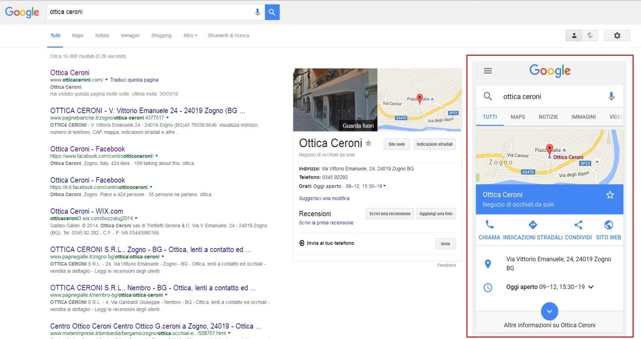 Google My Business Bergamo